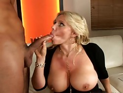Voracious golden-haired honey Karen Fisher getting hard drilled