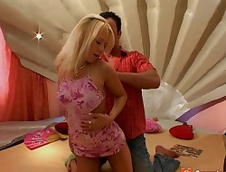 Inviting blond sweetie Terry A gets ravaged in several ways