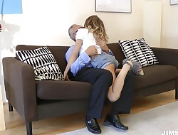 Fleshly blond sweetie Avril Sun is fucked for hours