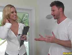 Heavenly Cherie Deville enjoys lovemaking with a random male