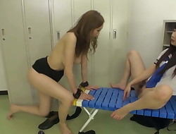 Asian Schoolgirl Has Fun With Gimp Teacher Lesbian