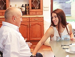 DADDY4K. Smart teen entices old guy to satisfy all her...