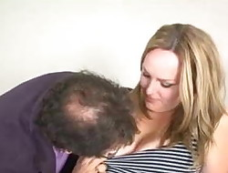 Cute married chubby blonde cheats with her manager