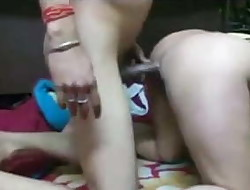 Desi north indian bhabi enjoyed with bf, she was moaning