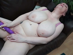 Huge-titted natural mature mom needs a good fuck