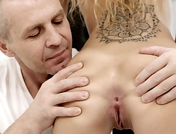 DADDY4K. Monique did blowjob and had sex with her bf dad