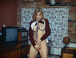 DIRRTY - British schoolgirl uniform strip dance taunt